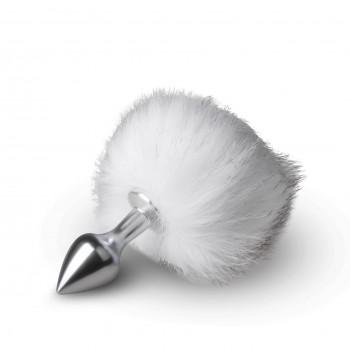 Plug S Cola Conejo - Plata - Blanca