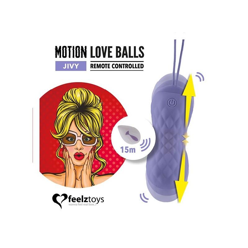 Jivi Love Balls - Movimiento y Vibración Recargable Control Remoto 15 metros